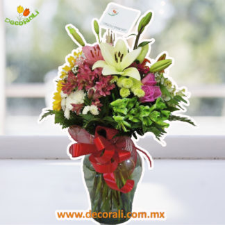 Rosas gerberas alstroemerias y lilis