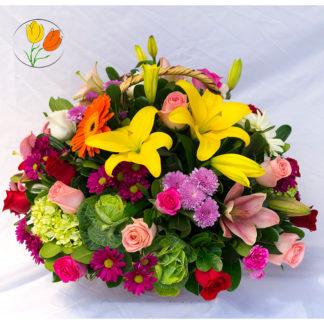 Rosas y lilis multicolor