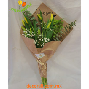 10 tulipanes en ramo