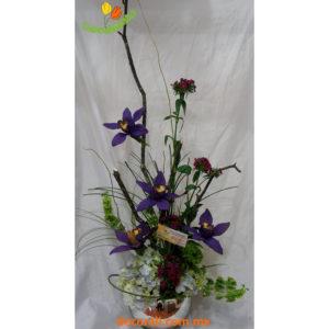 Orquidea cymbidium y hortensia