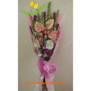 Ramo premium anthurios y tulipanes