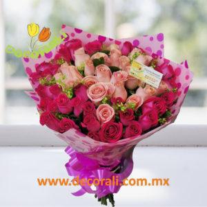 60 rosas en ramo