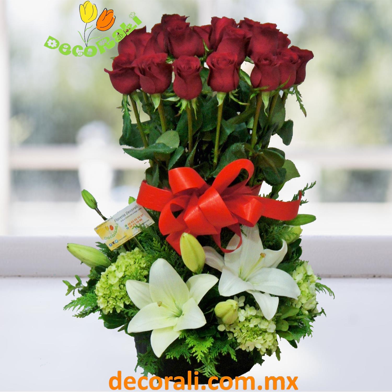 24 Rosas Hortensias Y Lilis