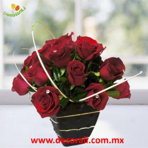 18 rosas en ceramica