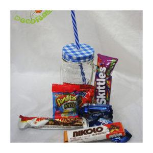 Mason Jar con dulces