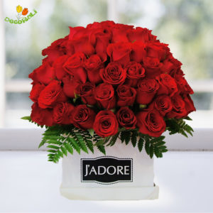 120 rosas en caja