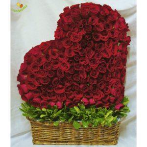Corazon gigante 200 rosas