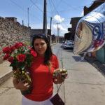 rosas rojas y globo