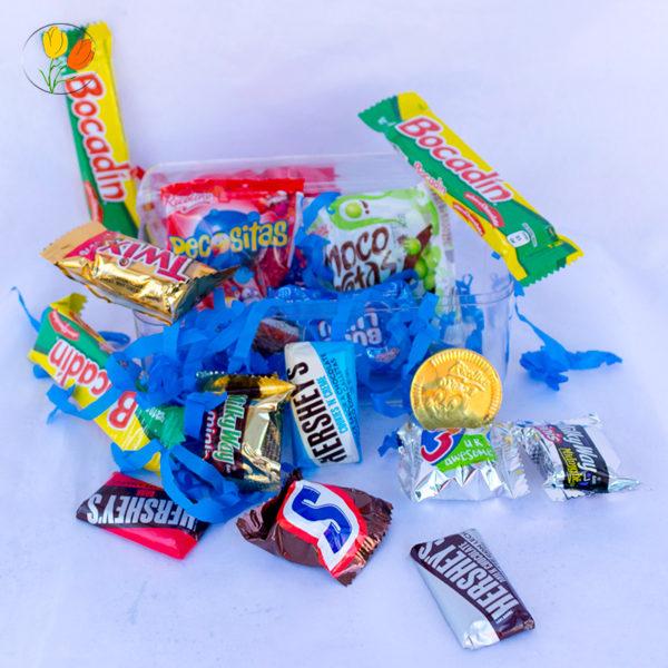 Cofre con dulces