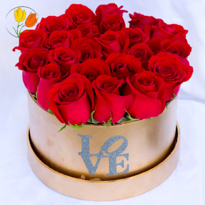 Golden Box con rosas